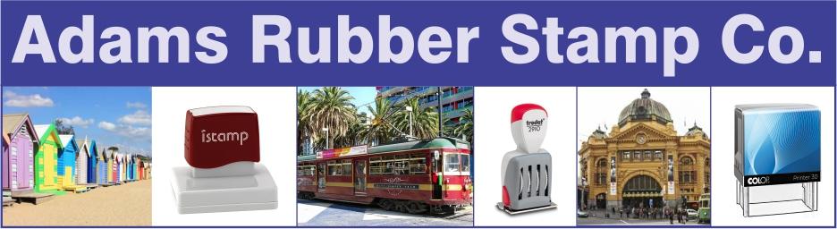 Adams Rubber Stamps - Melbourne Victoria